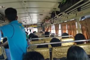 im Bus nach Galle