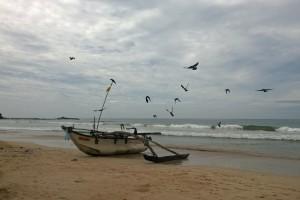 am Strand von Bentota