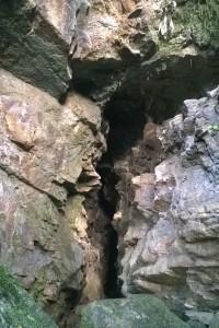 vor der Glühwürmchenhöhle