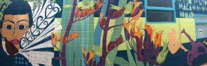 30.10.2015 Maori Kunst an Hauswand in AKL